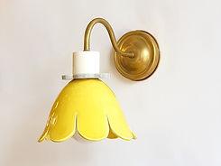 """דגם 11 - מנורת קריאה - פרח בצבע חרדל, קוטר 20 ס""""מ - 780 ש""""ח"""