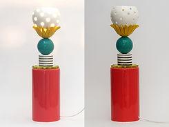 """מנורה צבעונית עומדת עם בסיס אדום - גובה 39 ס""""מ - 690 ש""""ח"""
