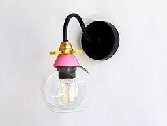 """דגם 7 - מנורת קריאה צבעונית מזכוכית - קוטר 12 ס""""מ 350 ש""""ח"""