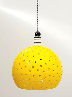 """גוף תאורה צהוב - קוטר 25 ס""""מ 830 ש""""ח"""
