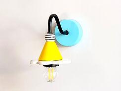 """דגם 10 - מנורת קיר קטנטנה צבעונית - קוטר 12 ס""""מ - 330 ש""""ח"""