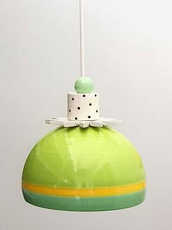 """מנורה צבעונית קטנה - קוטר 14 ס""""מ 690 ש""""ח"""