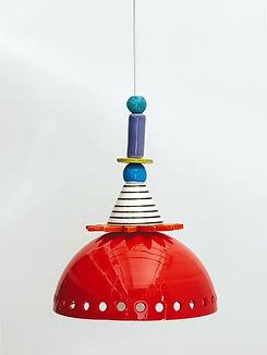 """מנורה אדומה - קוטר 20 ס""""מ 690 ש""""ח"""