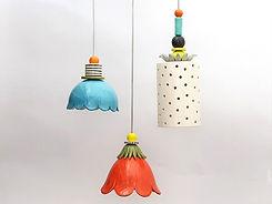 מנורות תואמות - צבעוניות מקרמיקה - צורות שונות וצבעים שונים