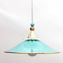 מנורה מקרמיקה טורקיז עיטור זהב.jpg