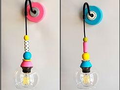 שתי מנורות צמודות קיר בחדר רחצה, עיצוב פנים - רונה קינן-פיש