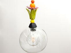 """מנורה עם פרח ועלים, קוטר 20 ס""""מ 420 ש""""ח"""