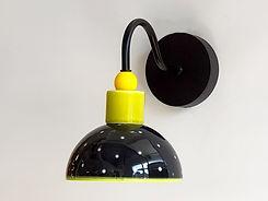 """דגם 7 - צמוד קיר שחור עם לבנות מקרמיקה - קוטר 15 ס""""מ - 490 ש""""ח"""