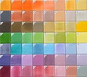 אריחים צבעוניים תעשייתיים חלקים