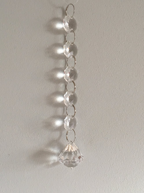 crystal droplets chandelier decoration home decor hanging L14cm approx