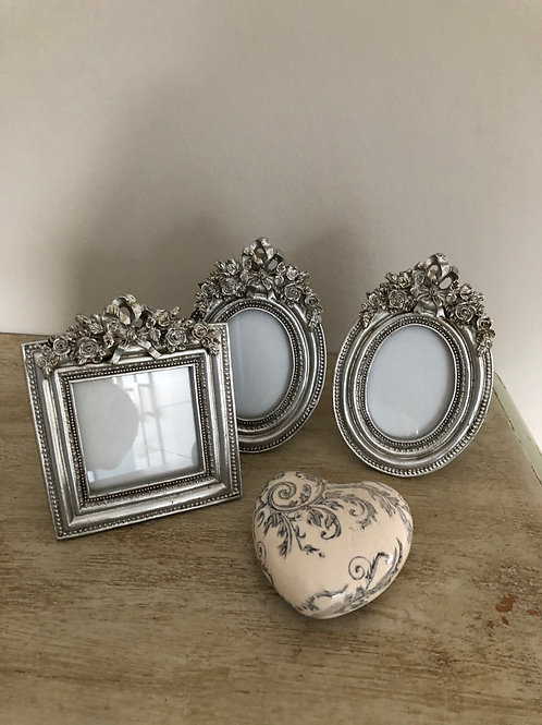 3 picture frames vintage style 1 set of 3 silver rustic finish free standing
