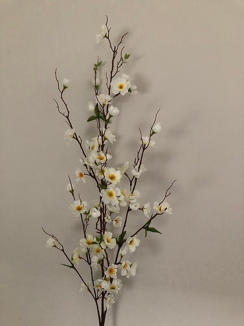 faux apple blossom stem H120cm