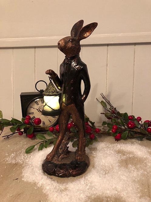 debon hare ornament figurine statue night light lantern home decor H30.5cm