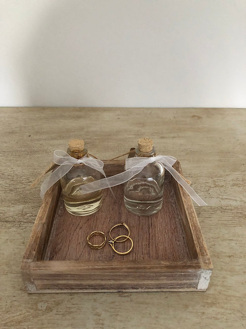 natural wooden square tray 15cm square trinket's jewellery storage home decor