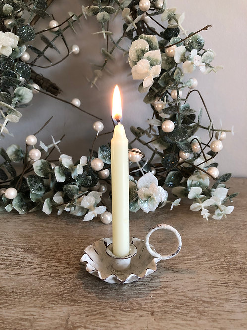 mini chamberstick metal candle holder's H1.5cm W5.5cm W7cm free candle in each