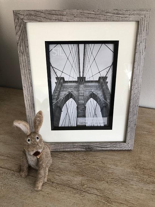 grey washed wooden photo frame H28cm W23cm photo size H18cm W13cm