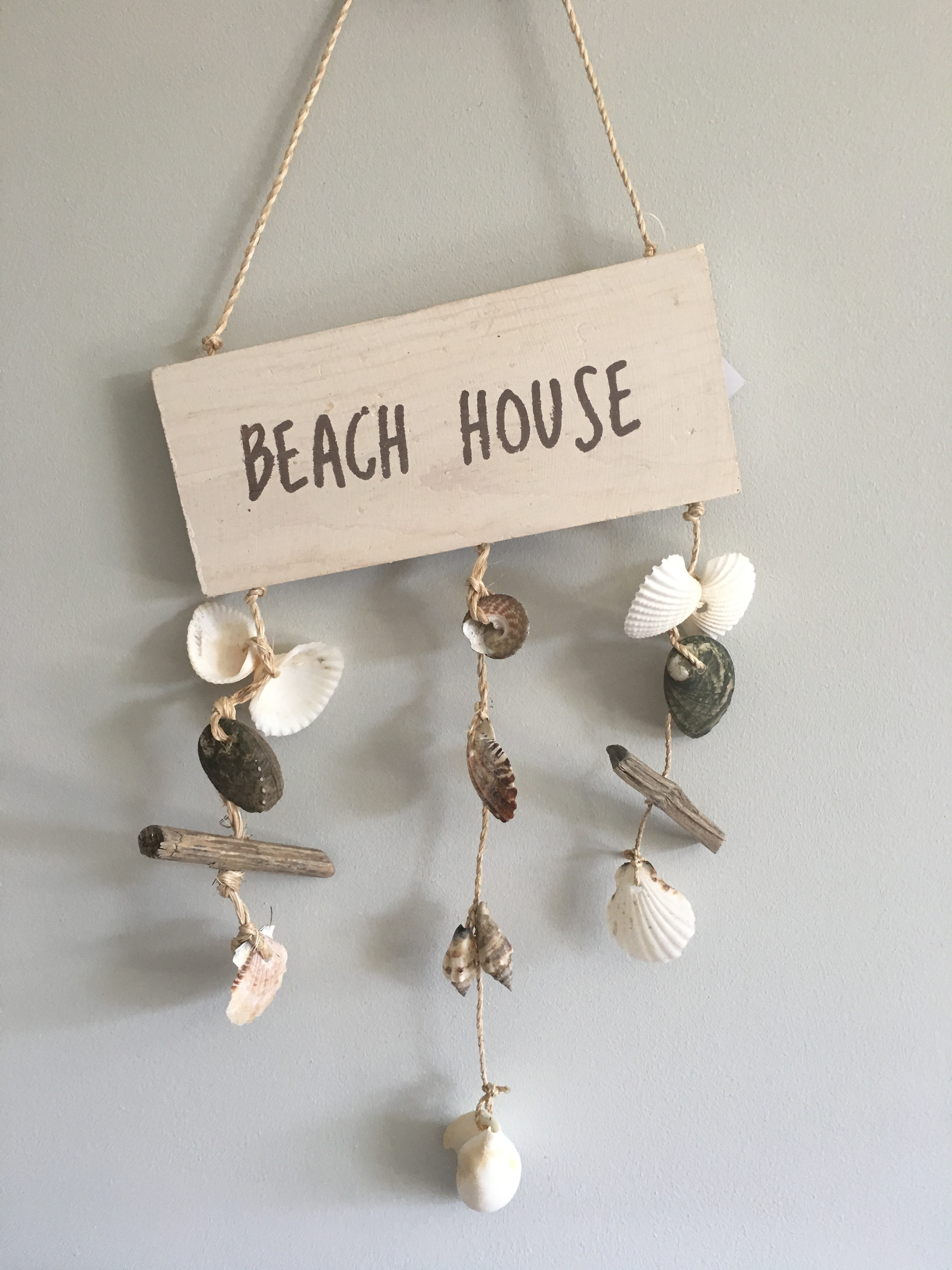love your home online home accessories home decor t lt holders beach shell mobile wooden hanging plaque with shells sizew20cm x l50cm approx