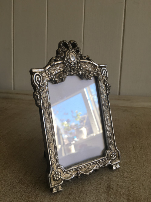 Small Vintage Style Photo Frame H135cm Colour Aged Silver Love