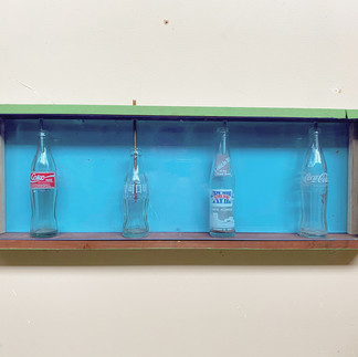 "Coke Contamination 36"" x 12"" x 4"" mixed media sculpture 2020"