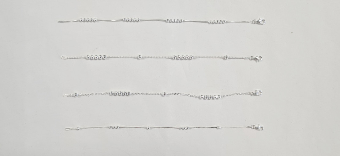 Silver Chain with Beads
