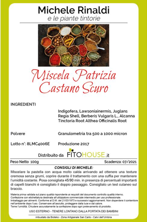 MICHELE RINALDI - MISCELA PATRIZIA CASTANO SCURO