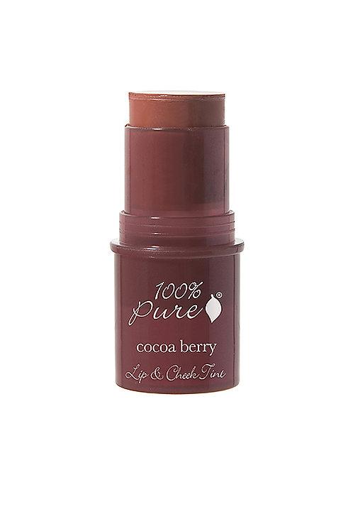 100% Pure Lip & Cheek Tint-SHIMMERY COCOA BERRY