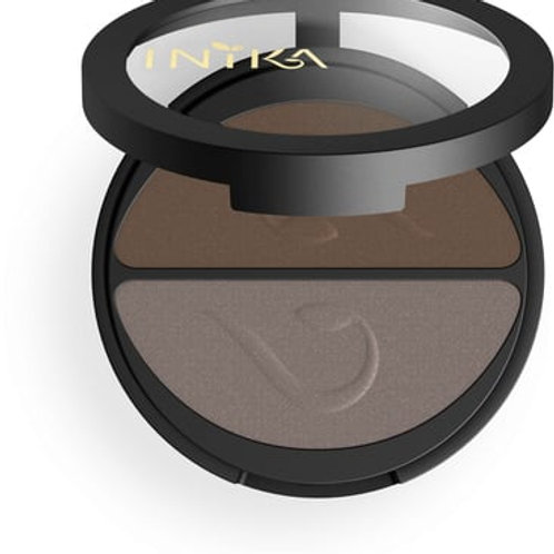 INIKA PRESSED DUO EYESHADOW CHOC COFFEE