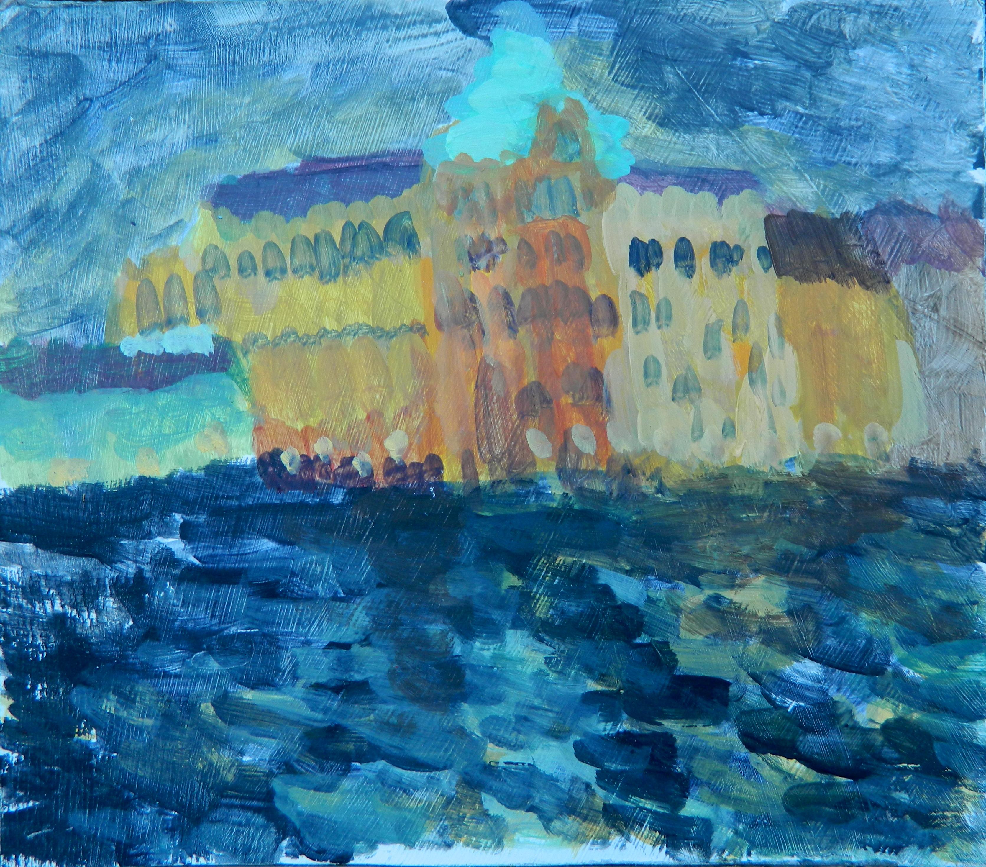 Mystery Building, Venice (night)