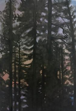 Smoky Sunset Lake Tahoe