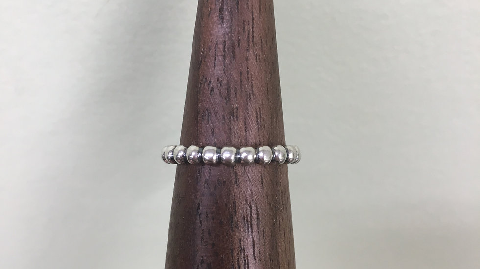 2.4mm Sterling Bead Band