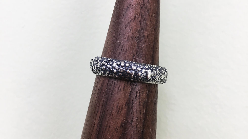 Fused Chunk Band in sterling silver