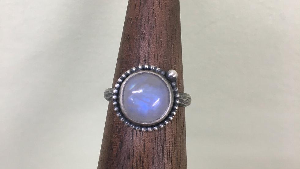 Moonstone Dainty Bead Ring - size 7