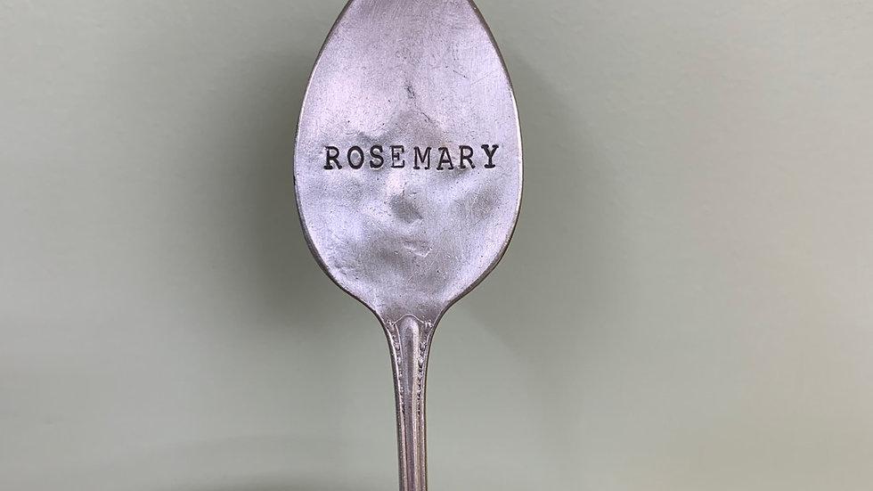 """""""ROSEMARY"""" Vintage Spoon Garden Marker"""