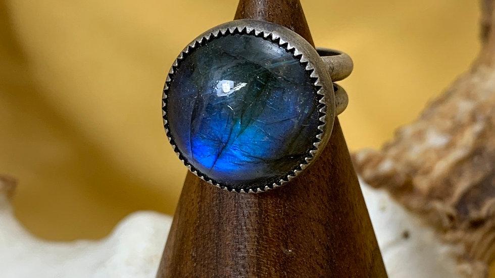 Labradorite sterling adjustable size ring