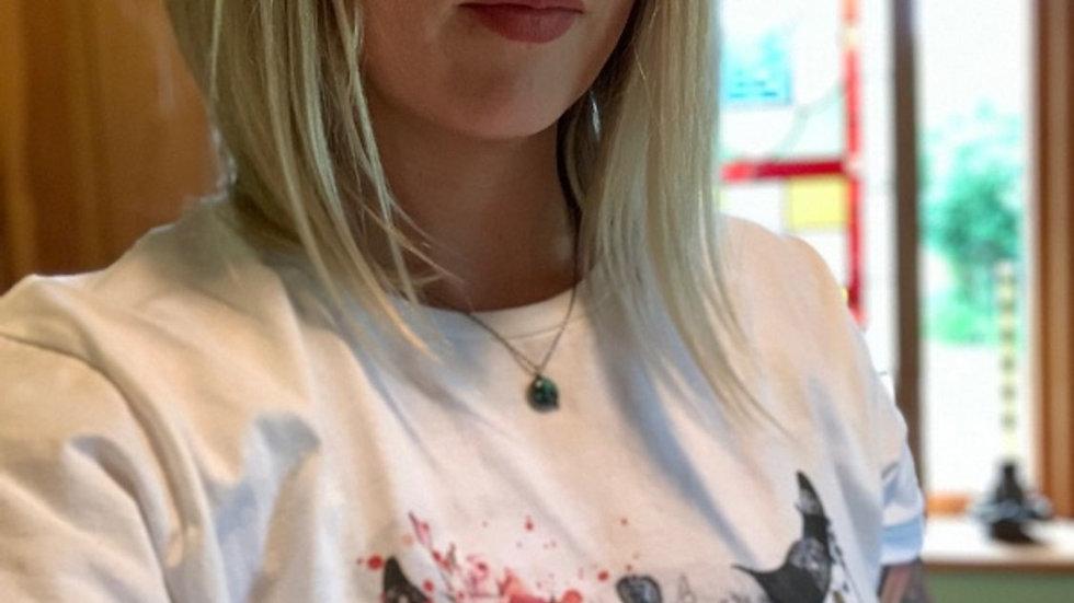Grey Ox Metal ladies white T-shirt