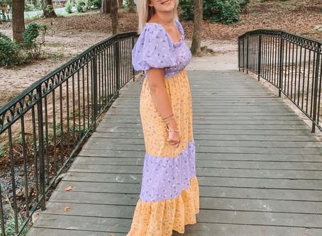 Color-Block Maxi Dress