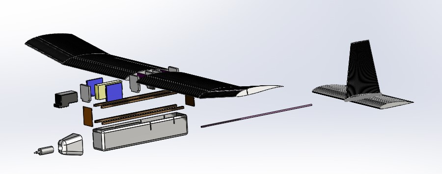 Exploded View of Low Cost Drone