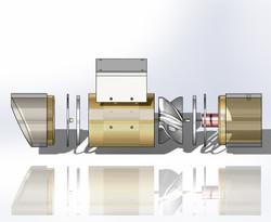Exploded View of Turbine System