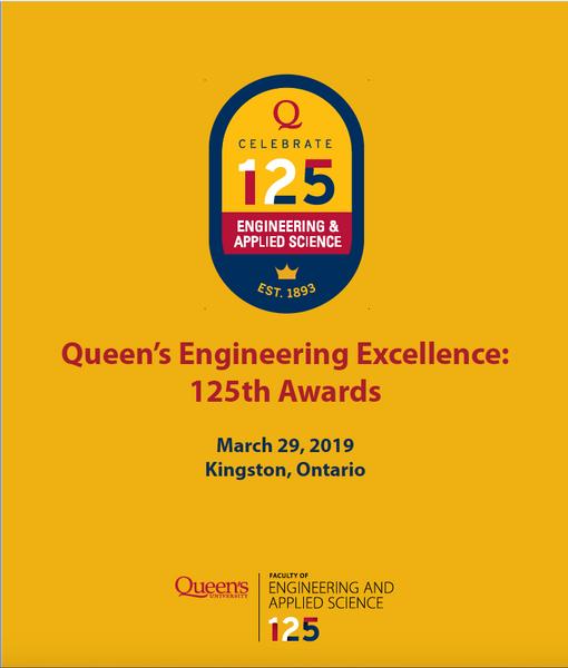 Queen's Engineering Excellence Awards – 2019, Alumni Awards Gala Program