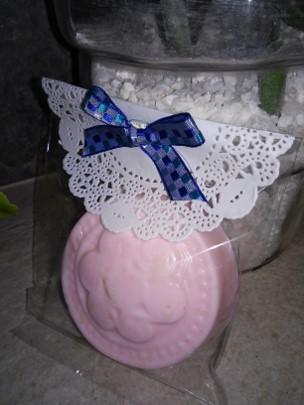 Jabón decorado para fiesta