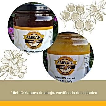 Miel 100% pura de abeja | orgánica certificada