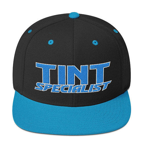 Teal with White Yupoong Snapback Hat