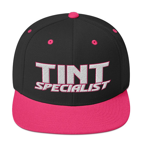 White and Pink Yupoong Snapback Hat