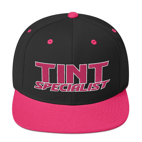Pink and White Yupoong Snapback Hat