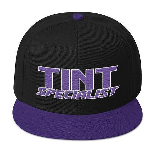 Purple and White Otto Snapback Hat