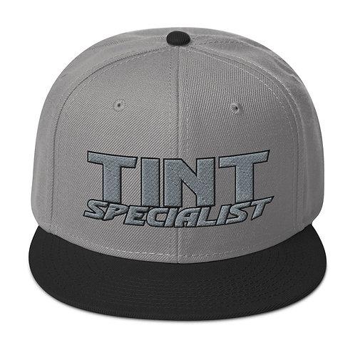 Gray and Black Yupoong Snapback Hat