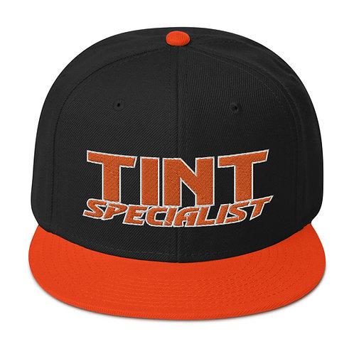 Orange and White Otto Snapback Hat