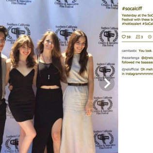 Cast of Double Turnover on Red Carpet