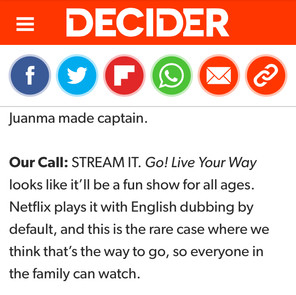 """Review for """"Go! Live Your Way"""" on Netflix (Riley English-dubs character Lupe)."""