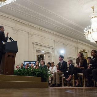 President Obama presenting at White House Film festival